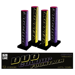 1153 - B2B Duo Colour Fountain, 4 stuks
